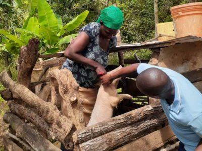 Kikatiti extension worker visit